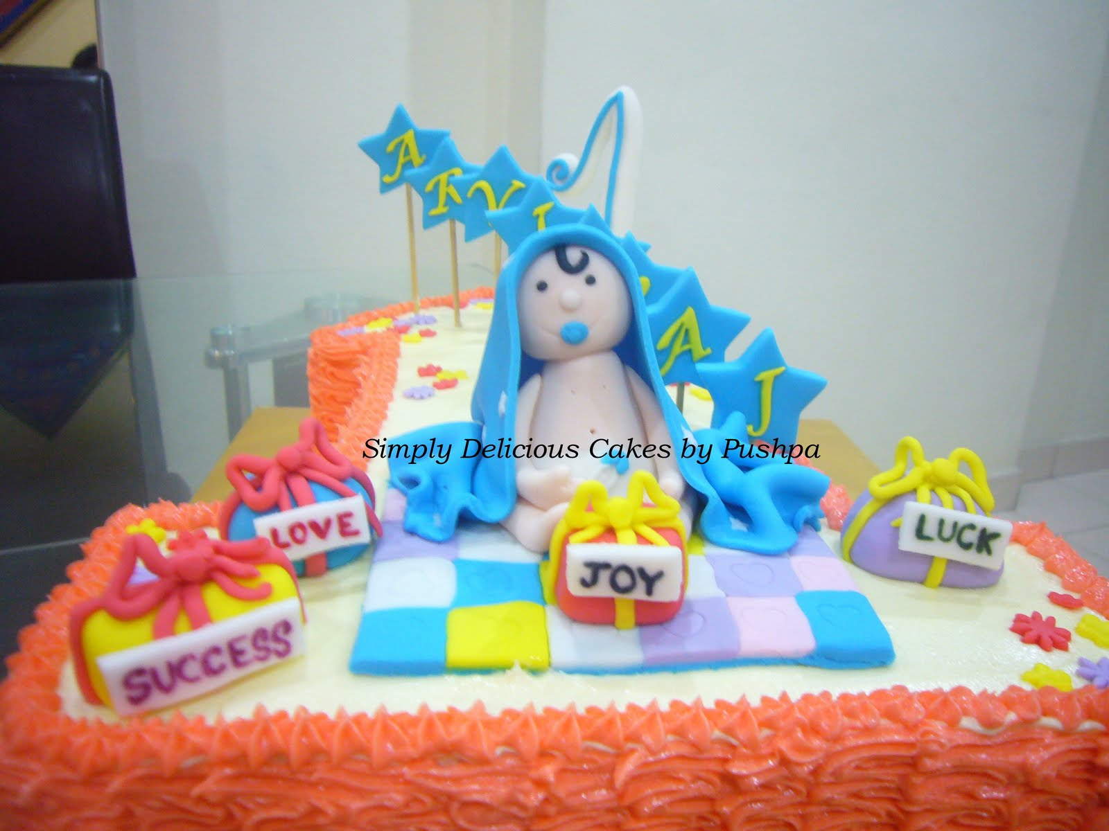 Birthday Wishes Boy Baby ~ Simply delicious cakes arvin raj st birthday