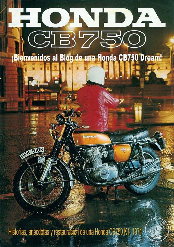 Restaurando una Honda CB750 Four, K1,1971.