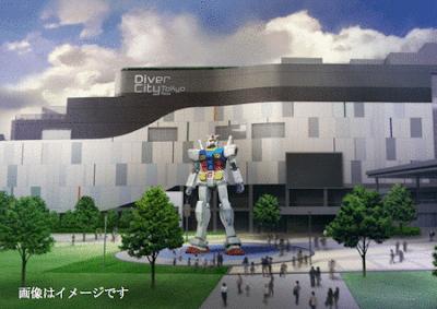 gundam escala real 2012 diver tokyo