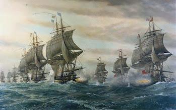 La Bataille de Cheseapeake entre navires de lignes (5 septembre 1781)