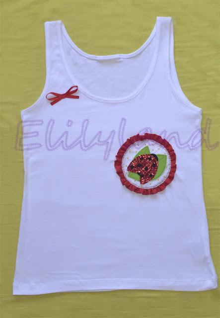 Camiseta Mariquita a Mano fieltro