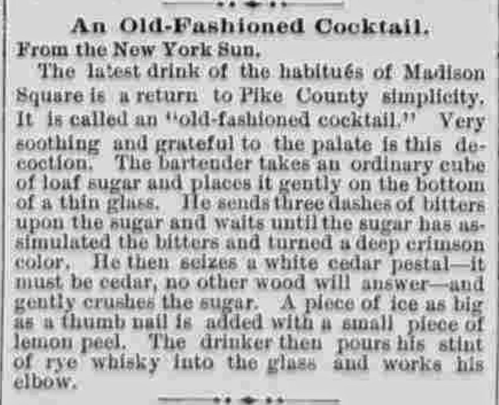 Everythinginthebar old fashioned cocktail for 1895 cajun cuisine menu
