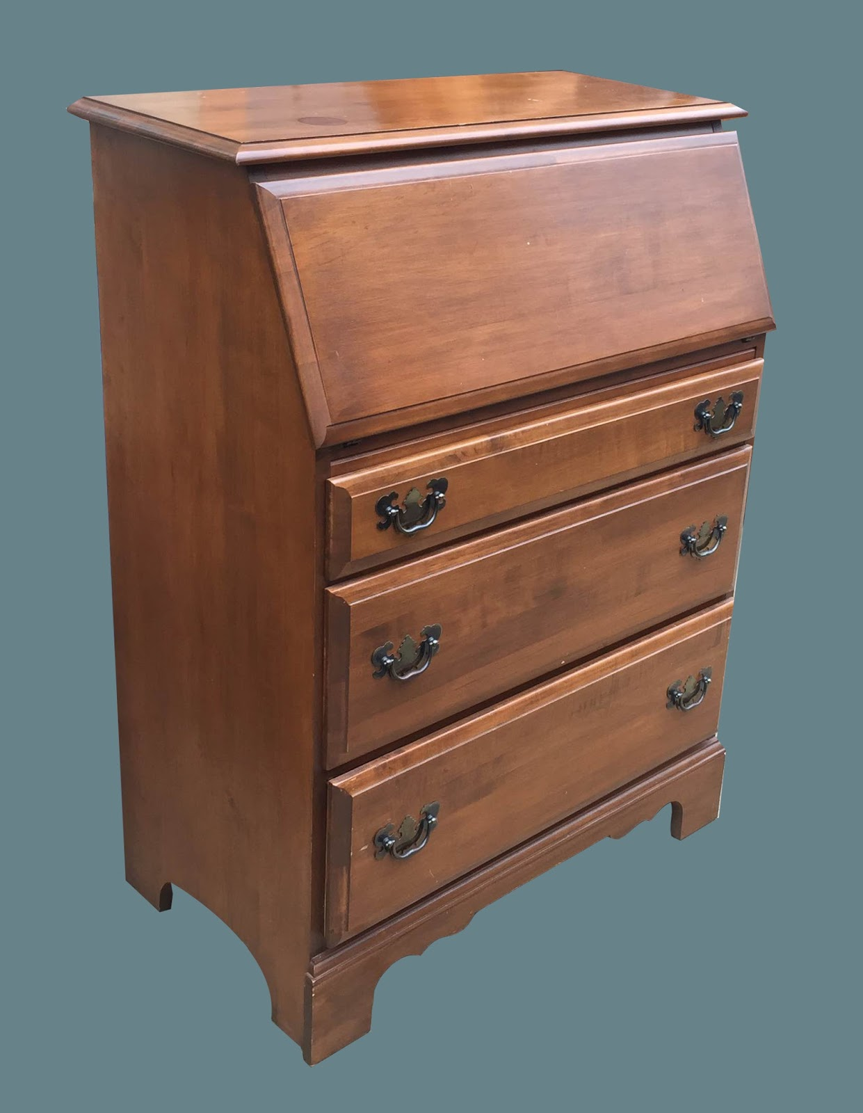 Uhuru Furniture & Collectibles: Vintage Medium Wood 3 ...