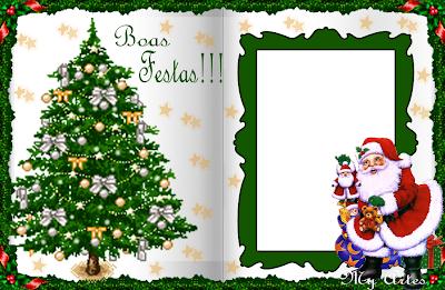 Cartão de Natal 2013: Modelos Grátis para imprimir - Papai Noel - Arvore de Natal