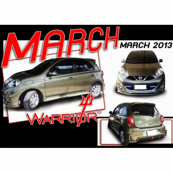 Body Kit Nissan March Warrior 2013-2014