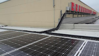 Solar Modules, Cable Trays and Inverters