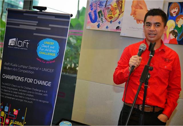 Champions for Change, Starwood Hotels Resorts, UNICEF, charity, Modern Art Competition, UNICEF children program, aloft hotel, Kl sentral, re:mix