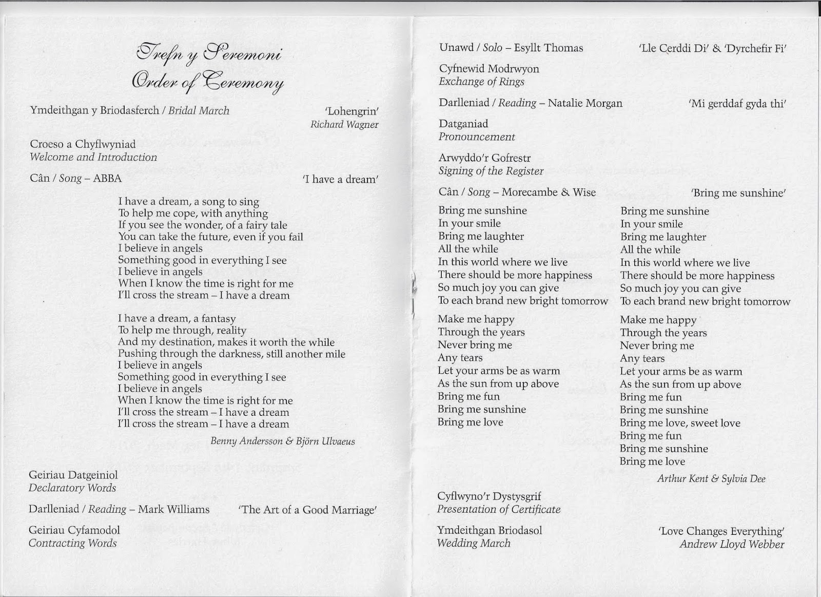 Wedding Ceremony Order. Wedding Ceremony Order Of Events Template ...