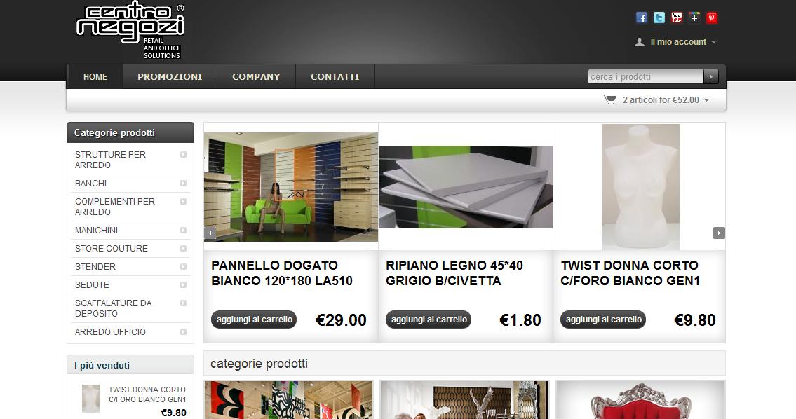 Web agency napoli l e commerce di centro negozi for Negozi arredamento on line
