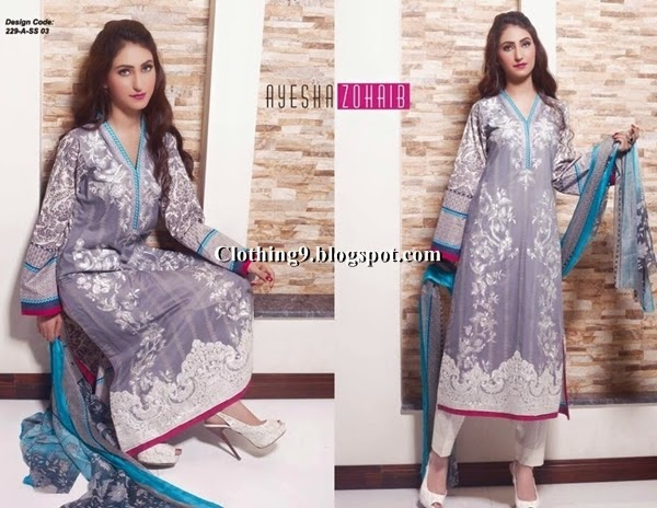 Best Replica Designer Clothes Ayesha Zohaib Lawn Collection