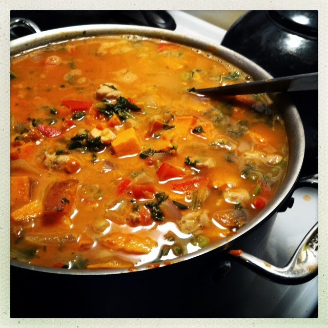 Salty Runner: West African Style Peanut Stew with Chicken, Sweet ...