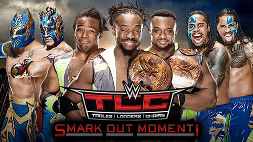 WWE TLC 2015 PPV New Day vs Usos vs Lucha Dragons