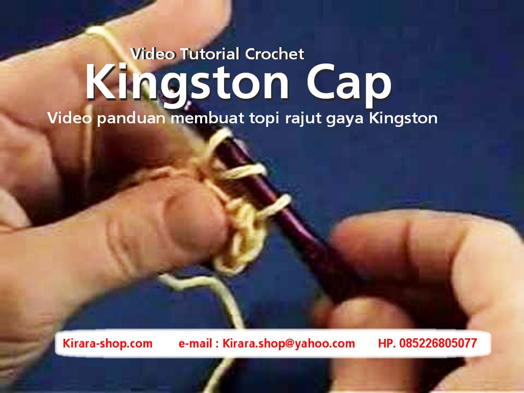 CROCHET KINGSTON CAP - Panduan Merajut Topi Gaya Kingston