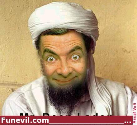 Mr Bean Laden Funny Picture. in laden mr bean in laden.