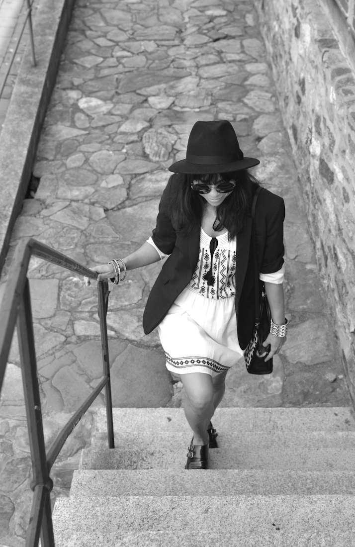 Boho Black and White Street Style