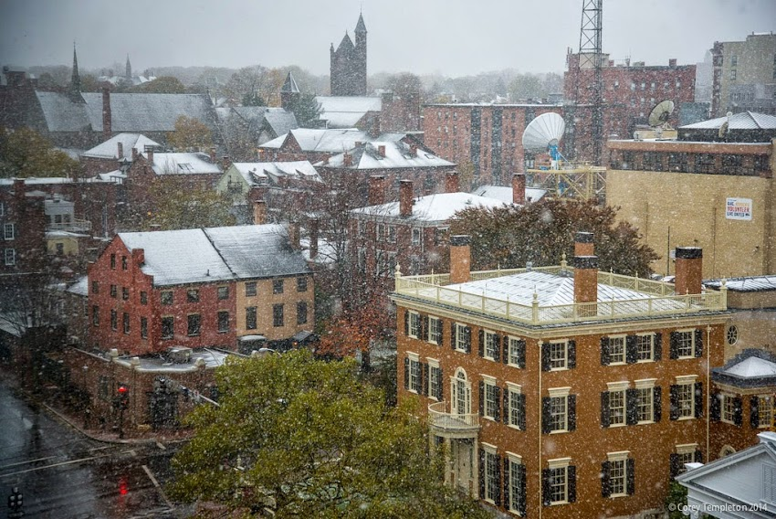 Portland, Maine November 2014 Snow over the city photo by Corey Templeton