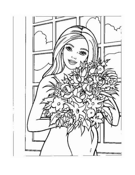 Old Fashioned image inside barbie coloring pages printable