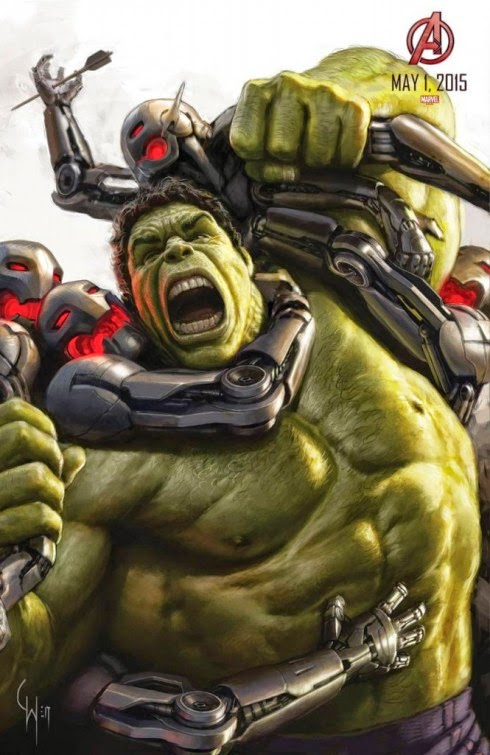 San Diego Comic-Con 2014 Exclusive Avengers: Age of Ultron Concept Art Movie Posters by Marvel - Mark Ruffalo as Hulk