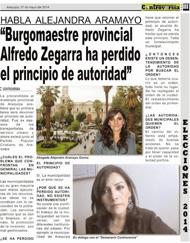 Habla la Dra. Alejandra  Aramayo Gaona