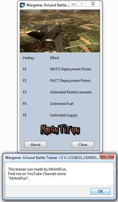 Wargame AirLand Battle Trainer +5 MrAntiFun