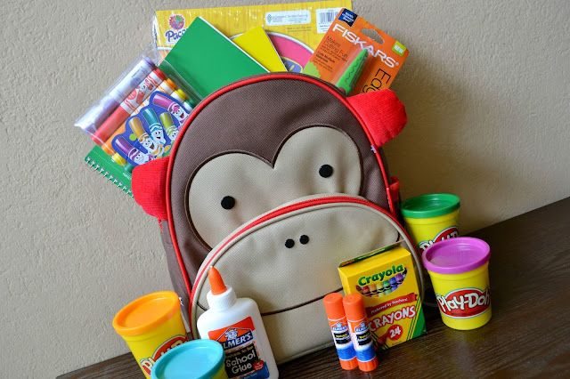 #bagitforward #shop #cfk donating school supplies skip hop monkey preschool backpack