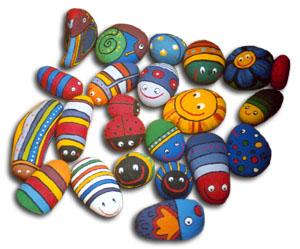 Giocabosco creare con gnomi e fate lavoretti con i sassi for Decoracion en piedras de rio