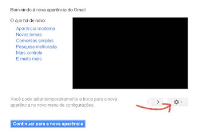 alterar conta de e-mail do gmail