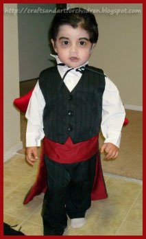 Frugal Homemade Kids Vampire Costume