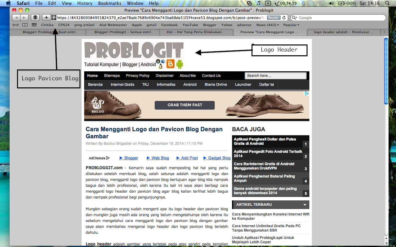 Cara Membuat dan Mengganti Logo Blog Dengan Gambar