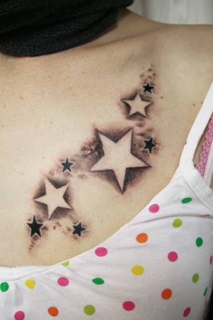 zombie designstattoo star tattoo on side. Black Bedroom Furniture Sets. Home Design Ideas