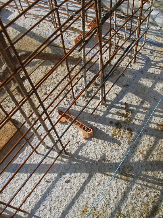 Notre maison ossature bois bioclimatique ferraillage mur for Maison en beton banche