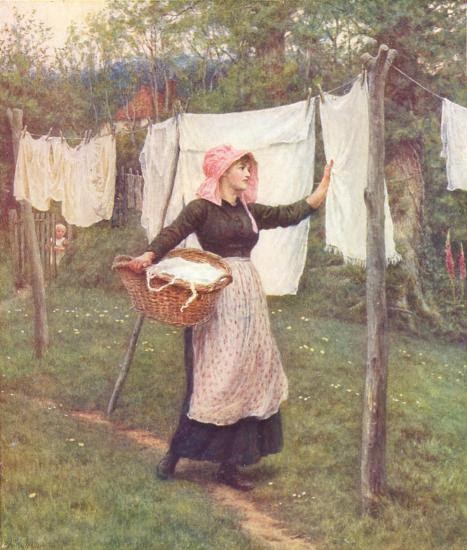 Clothes Drying On A Clothesline ~ Old fashioned motherhood homemaking the