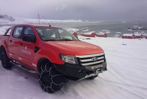 La Ford Ranger será el único vehículo civil en territorio antártico argentino