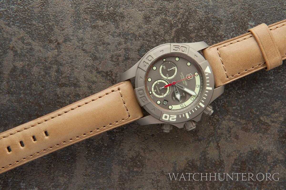 Victorinox Swiss Army Limited Edition Titanium Dive Master 500 on Dassari Heritage leather strap