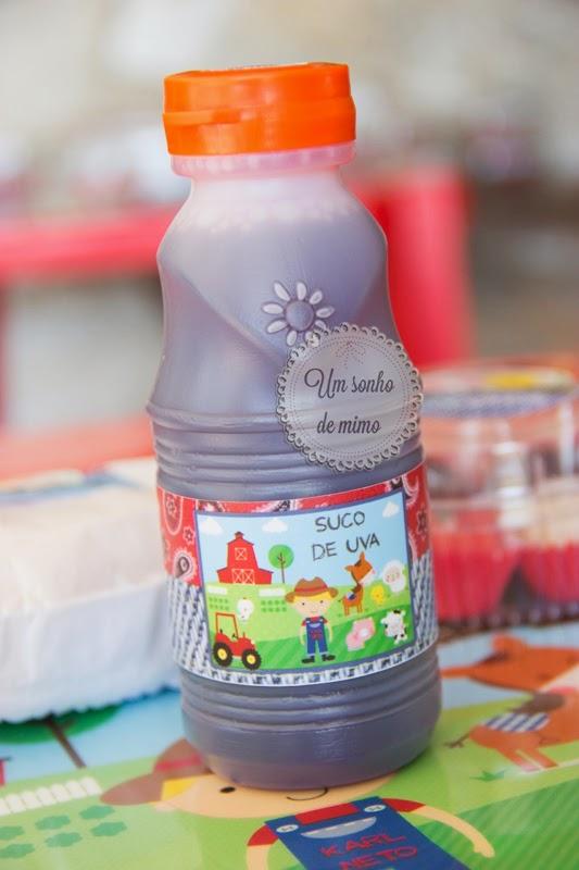 Rótulo de suco personalizado Um Sonho de Mimo