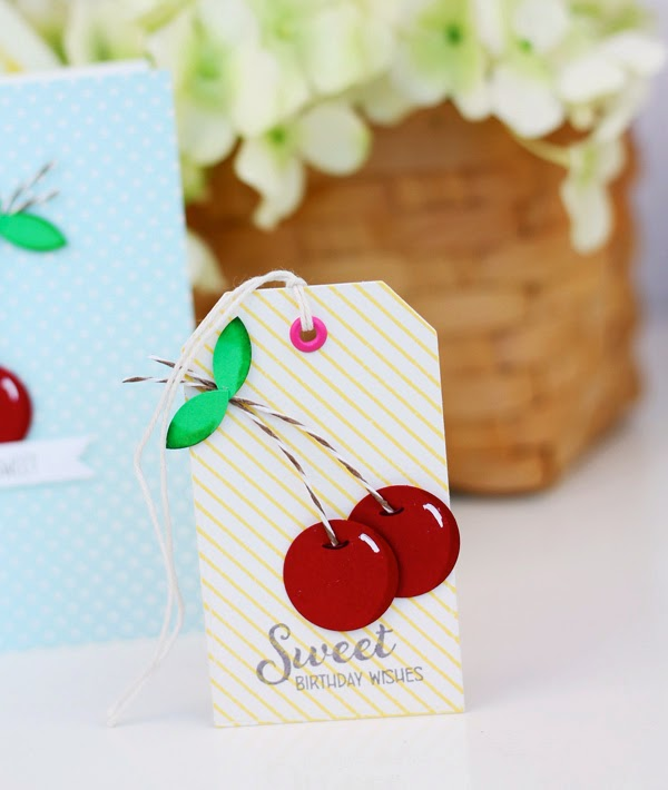 Makers + Shakers Damask Love cherry tags