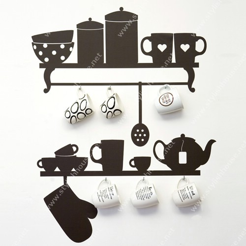 Stylish wall stickers designs for kitchen