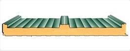 Panel de sandwich de cubierta modelo con tapajuntas