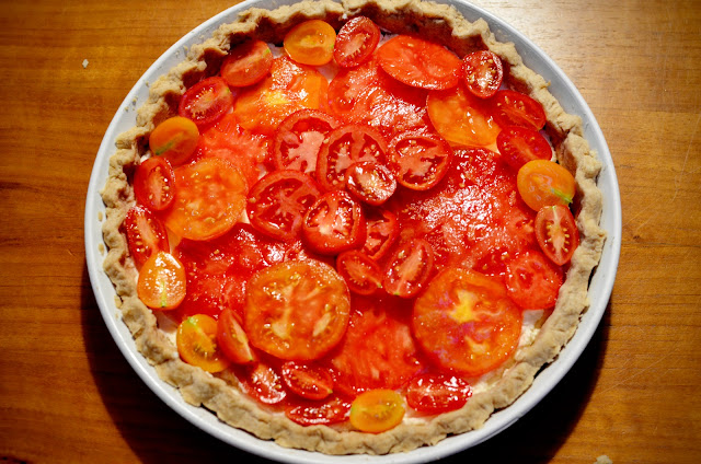 Tomato layer in the tart | Cheesy Pennies