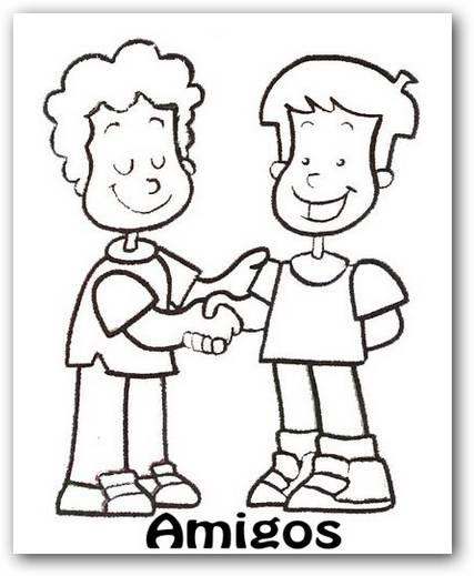 Imágenes de amistad para colorear   Dibujos para Colorear