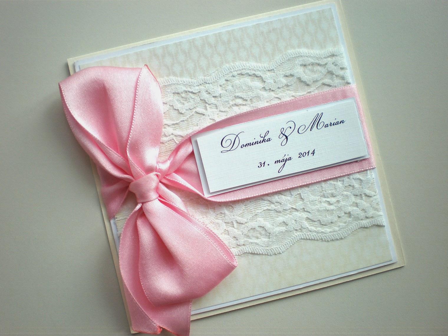 Svadobné oznámenia / Wedding invitations