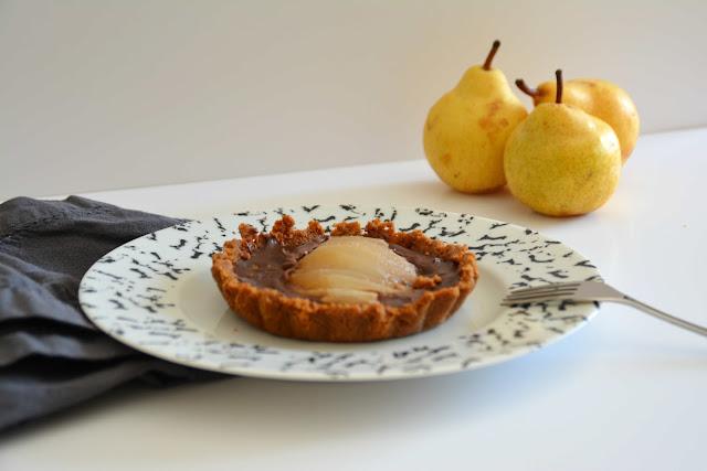 Tartelettes Poire Chocolat Spéculoos ... presque sans cuisson