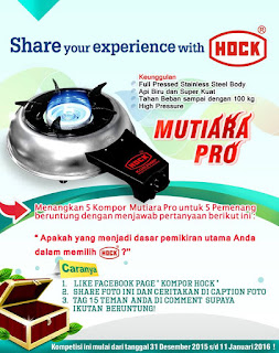 Kontes  Foto Hock Berhadiah Kompor Mutiara Pro