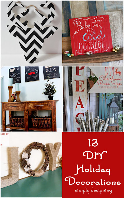 13 DIY Holiday Decorations | #holiday #diy #christmas