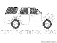 Mewarnai Gambar Mobil Ford Expedition Tahun 2005