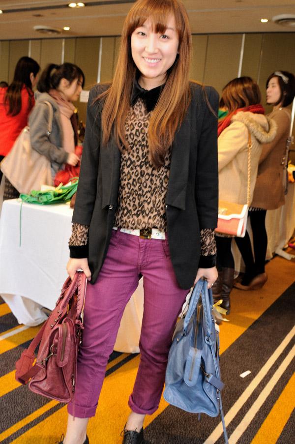 Street Style Portrait, Leopard Print Blouse - Reebonz luxury handbag sale, Hilton Hotel Sydney