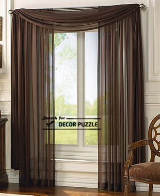 Modern french style curtains designs, Brown French window curtains