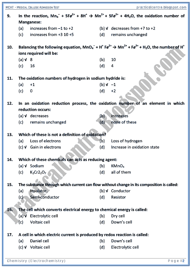 mcat-chemistry-electrochemistry-mcqs-for-medical-college-admission-test