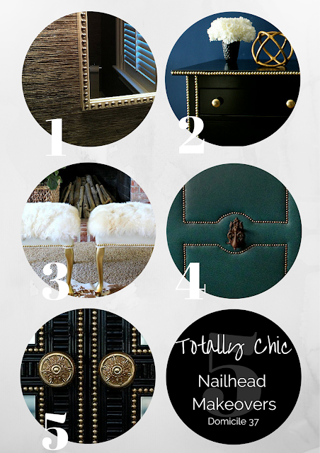 Roundup of 5 decorative nailhead DIY's
