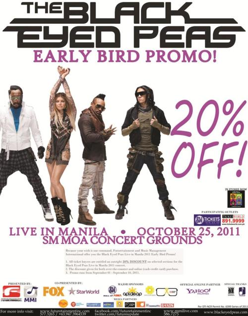 Black Eyed Peas 20% OFF LIVE in Manila 2011